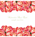 Watercolor Pink Roses card vector image vector image