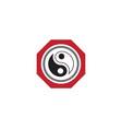 yin yang icon design vector image