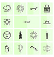 14 heat icons vector image vector image