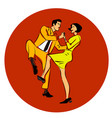 a couple dancing swing vector image vector image