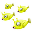 a set of cowfish isolated on white background vector image