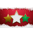 abstract christmas star ornament hanging vector image vector image