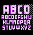 alphabet crystal letters vector image