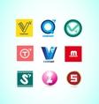 Alphabet letter logo set vector image vector image