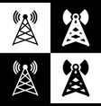 antenna sign black and white vector image vector image
