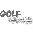 arizona golf schools give you the upper hand text vector image vector image