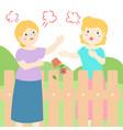 bad relationship of senior neighbor vector image vector image