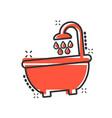 bath shower icon in comic style bathroom hygiene vector image