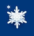 big white snowflake symbol vector image