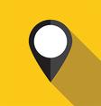 Black map pointer icon vector image vector image