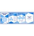 blue corporate brochure template vector image