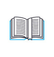 bookmark in the book thin line stroke icon vector image