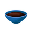 bowl of soy sauce on a white vector image vector image