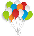 bright paper balloons vector image