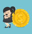 businesswoman with coin vector image vector image
