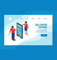 call center concept banner vector image
