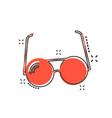cartoon sunglasses icon in comic style eyewear vector image vector image