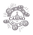 casino poster gambling playing in poker with vector image vector image