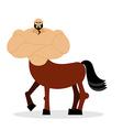 Centaur mythical creature Half horse half person vector image vector image