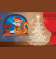 christmas indoor theme 3 vector image vector image