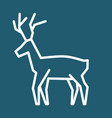 christmas reindeer simple icon vector image vector image