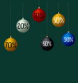 christmas sale balls colorful vector image