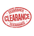 clearance sign or stamp vector image vector image