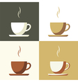 coffee cup set icon vector image
