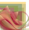 Colorful abstract flower with waves on a squares vector image vector image