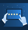 concept rating vector image