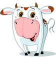 cute funny cow character cartoon vector image vector image