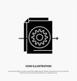 document file gear settings solid glyph icon vector image vector image