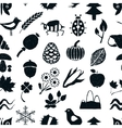 doodle seamless nature pattern vector image vector image