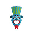 ethnic tribal mask zulu culture traditional vector image