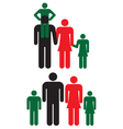 Family icons Man woman and children vector image