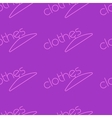 Fashion seamless background clothes text for vector image vector image