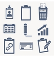 flat set of icons support technical help vector image vector image