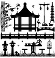 garden park outdoor recreational a set of asian vector image vector image