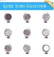 Globe icons collection vector image