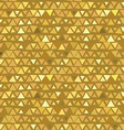 Golden Triangle seamless pattern yellow beige vector image