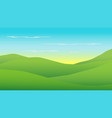 green hills in morning with sunrisecountry vector image