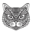 Hand drawn ornate doodle graphic black and white vector image