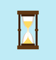 hourglass isolated on a light blue background vector image