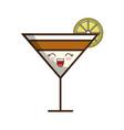 kawaii cocktail drink icon vector image
