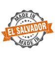 made in el salvador round seal vector image vector image