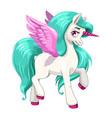 magic pony princess beautiful pegasus with long vector image