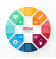 Medical plus sign healthcare hospital infographic vector image vector image