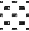 Microwave icon in black style isolated on white vector image