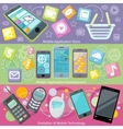 Mobile Application Store and Development vector image