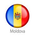 moldova round button flag vector image